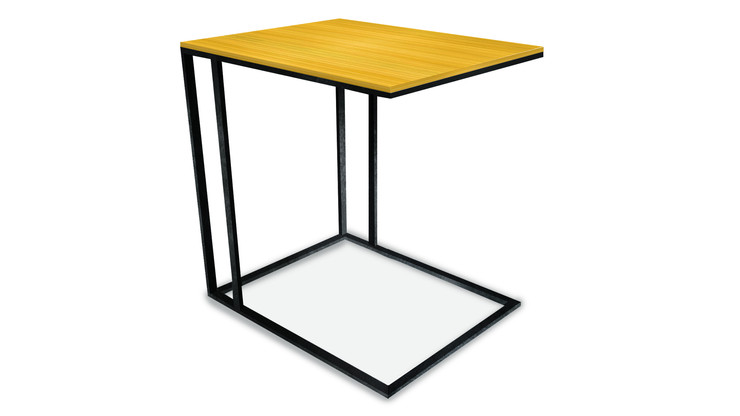 OCANÂ  Description :  Feet in laquered metal Top in zebrano gloss (other finishes/sizes on demand)   Size (LxWxH) :  40 x 40 x 50 cm