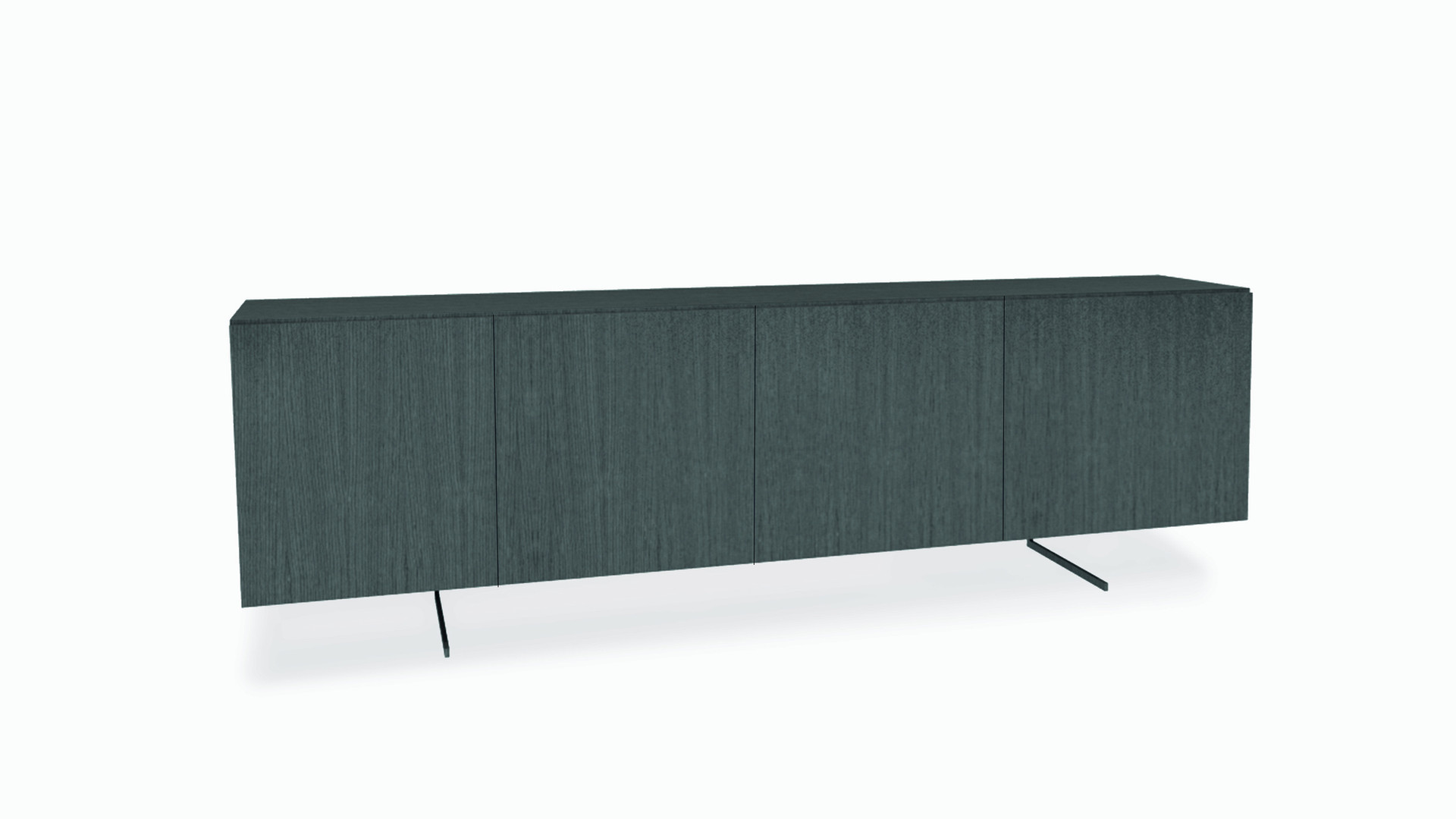 NAVARRA  Description :  Structure in oak veneer Feet in laquered metal  (other finishes/sizes on demand)   Size (LxWxH) :  140 x 40 x 75 cm 190 x 40 x 75 cm 230 x 40 x 75 cm