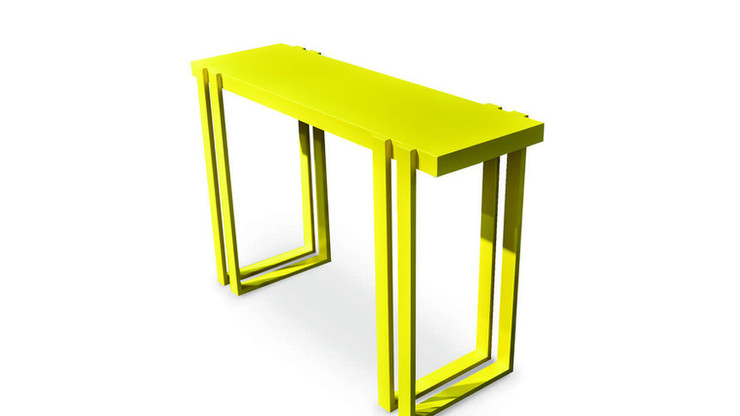 CIUDAD   Description :  Feet and top in MDF (other finishes/sizes on demand)   Size (LxWxH) :  120 x 40 x 80 cm 160 x 40 x 80 cm 180 x 40 x 80 cm