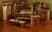 The Rocky Mountain Aspen Log Bedroom