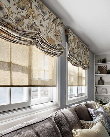 Roman Shades over Roller Shades