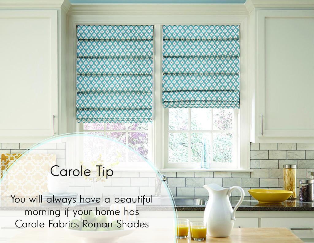 carole fabrics hobbled roman shade