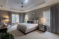 Master Bedroom shutters and drapery