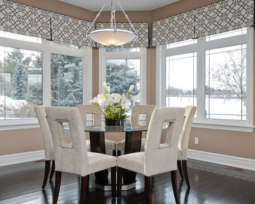 Valances in kitchen dining