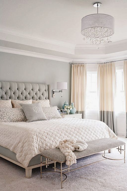 Gray tonal master bedroom