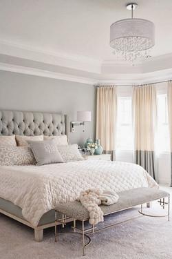 Gray tonal master bedroom