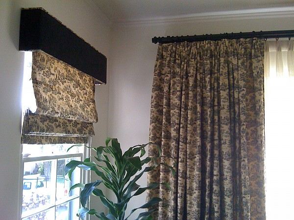 Roman Shades and Drapery