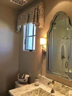Our clients stunning guest bathroom gets added sparkle and style