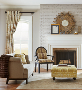 Chic Living room coordinated fabrics