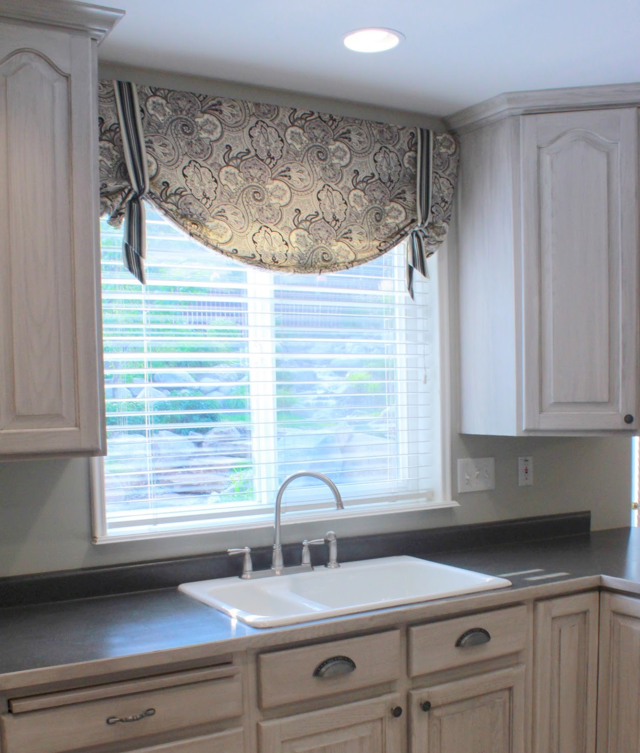 Soft Shape Valance Over Kitchen Sink