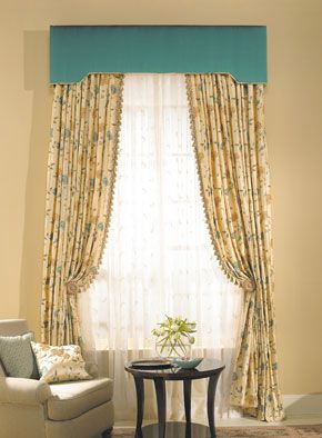 Teal cornice and floral panels