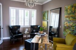 White shutters in living room