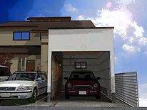 自由設計のガレージ