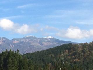 白山 初冠雪