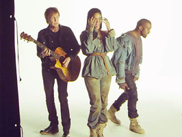"""Rihanna Teases """"FourFiveSeconds"""" Music Video With Kanye West, Paul McCartney"""