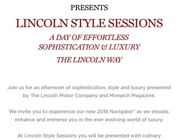 """EVENT REVIEW: The Lincoln Motor Company & Monarch Magazine PRESENTS """"Lincoln Style Session&"""
