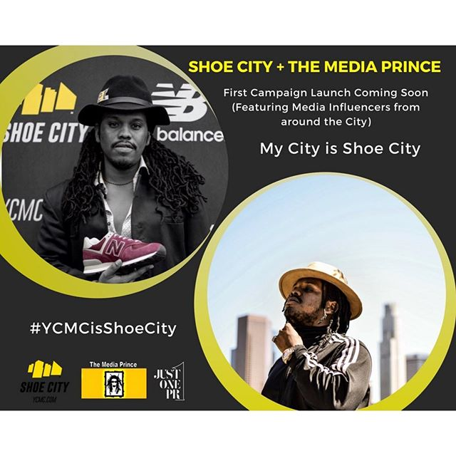 Working on UNVEILING it in a big way !!!!!!! #TheMediaPrince x #ShoeCity #YCMCisShoeCity