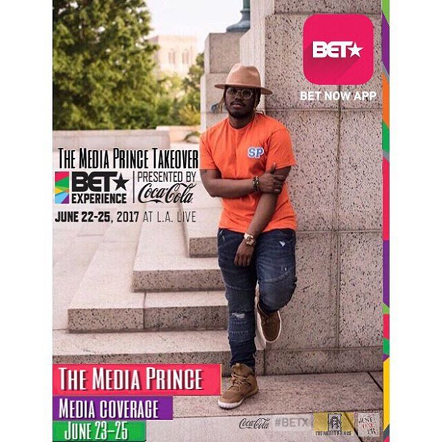 LA show me a good time!!!!!! #BETExperience #TheMediaPrince #LA #BET #BETAwards #Just1Pr