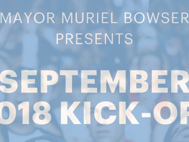 "EVENT REVIEW: Mayor Muriel Bowser & 202Creates PRESENTS ""September 2018 Kick-Off"""