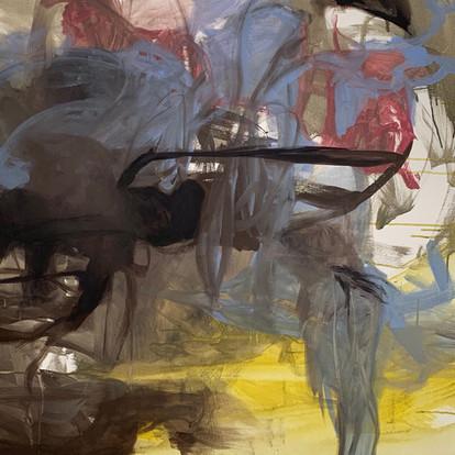 Boat - Abstract art, Acrilic on Canvas