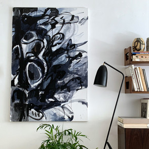 Darkly Happy - Abstract art, Acrilic on Canvas