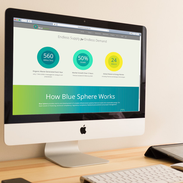 BlueSphere Website Design