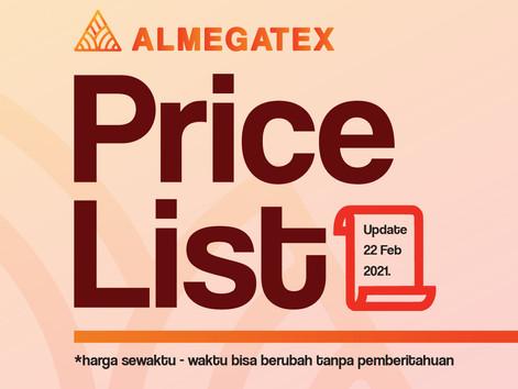 Daftar Harga Bahan Kaos Almegatex