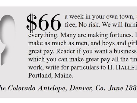 Make Money at Home in the 1880s