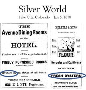 1880 Colorado Oyster Craze