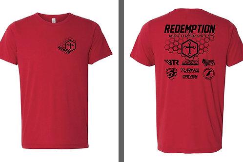 Redemption Motorsports V2 RED w/Black T-Shirt