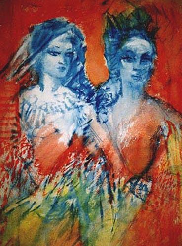 blaurotes Paar