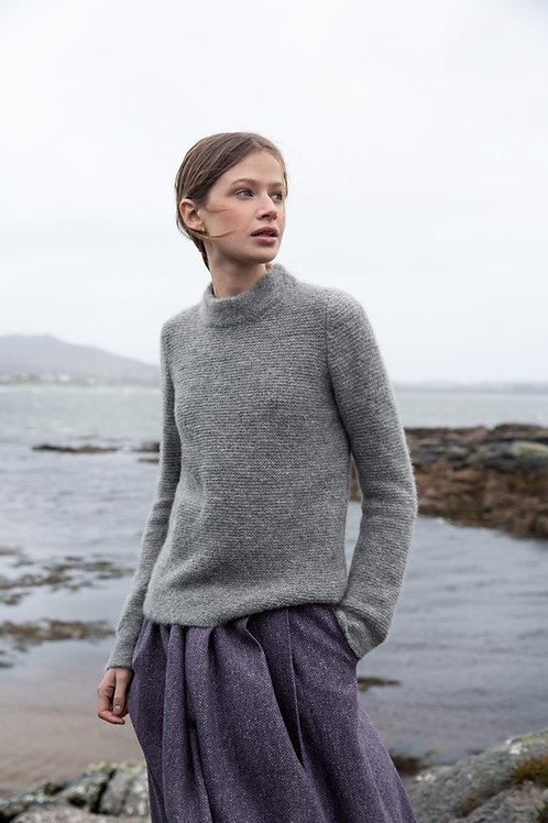 Fisherman Out Of Ireland, Links Links Stitch Mock Neck Sweater