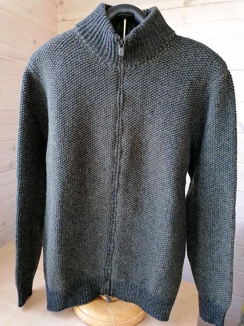 Fisherman Out of Ireland Seed Stitch Zipped Sweater