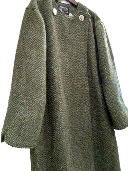 Cleo Tweed Two-Way Fastening Coat
