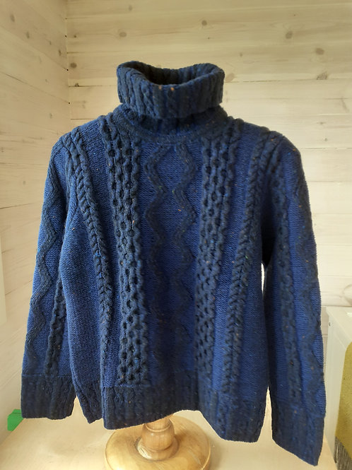 Inis Meáin Turtle Neck Plated Aran Pullover