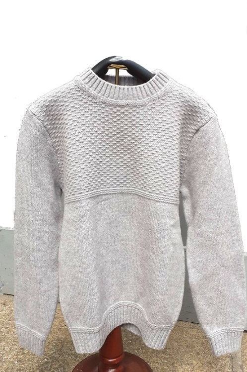 Inis Meáin Mens Sweater - Crew neck moss stitch pullover