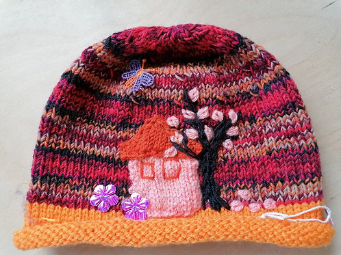 Kids Hand Knit Hat
