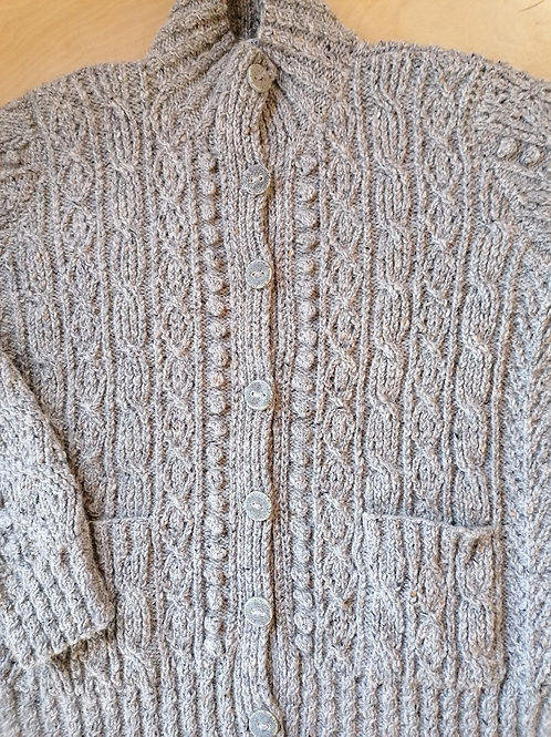 Aran hand knit sweaters - Maggie cardigan