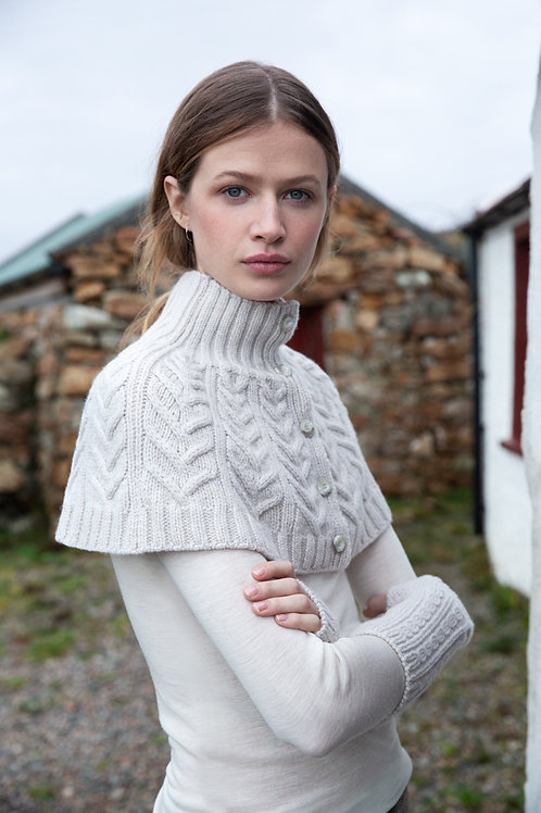 Fisherman Out Of Ireland Cable Pattern Capelet