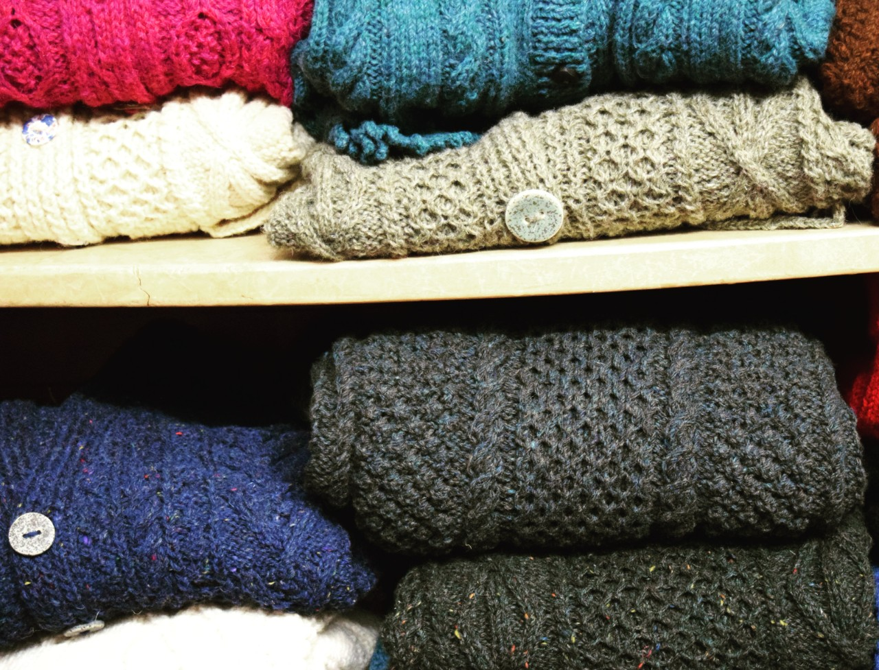 ARAN HAND KNITTED SWEATERS