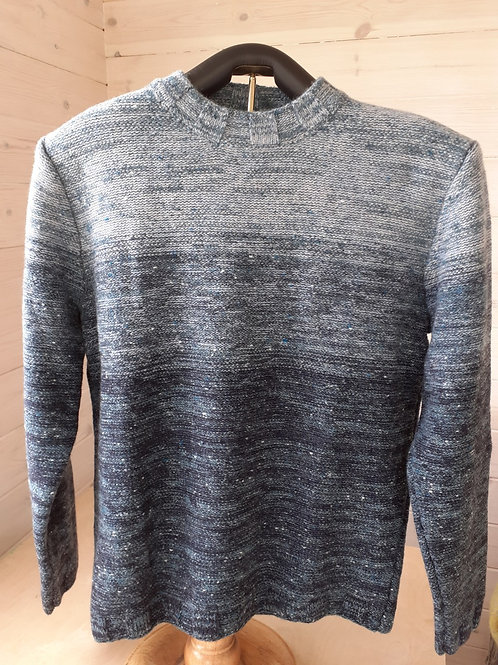 Inis Meáin Ombre Mock Neck Sweater