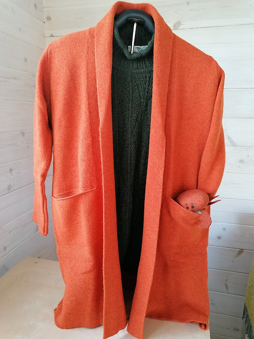 Inis Meáin Midi Cardigan with Pockets
