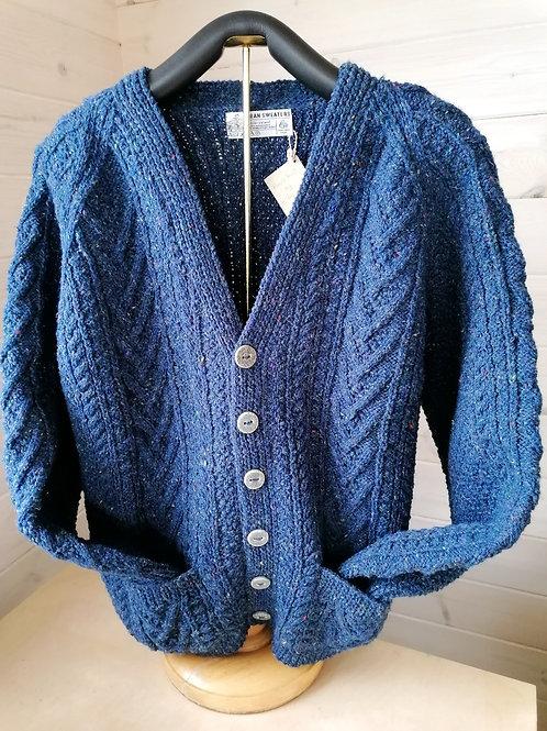Aran hand knit sweaters - V Neck Cardigan