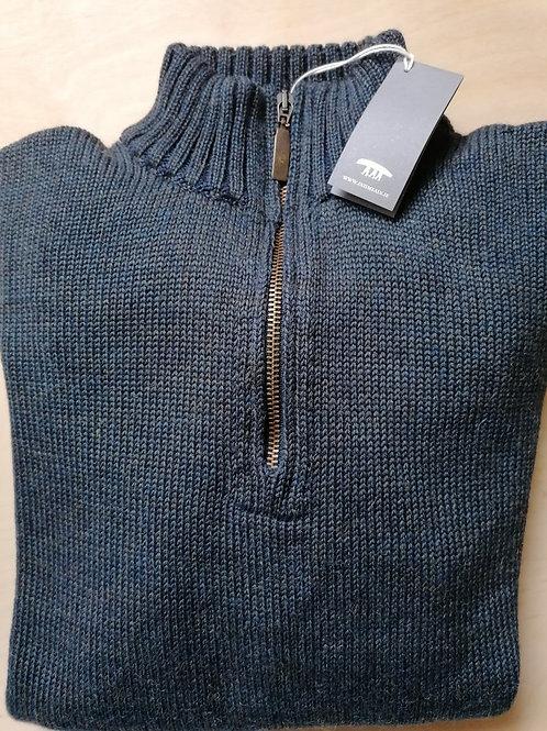 Inis Meáin Alpaca, Wool and Silk Zip Neck