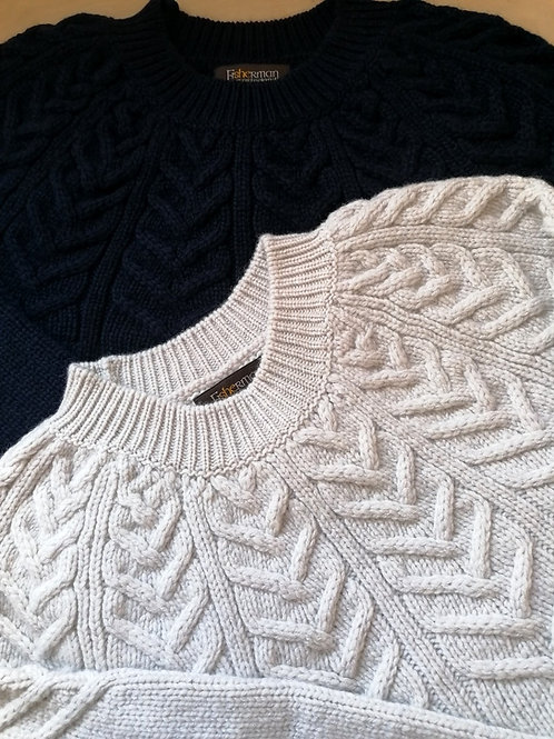 Fisherman out of Ireland Yoke Cabled Sweater