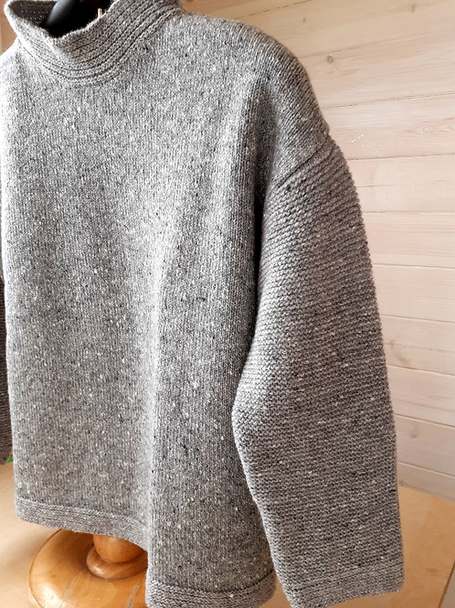 Inis Meáin Wool and Silk Purl SleeveTunic