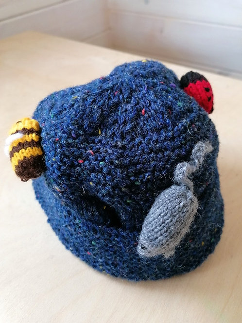 Kids Hand Knit Animal Hat