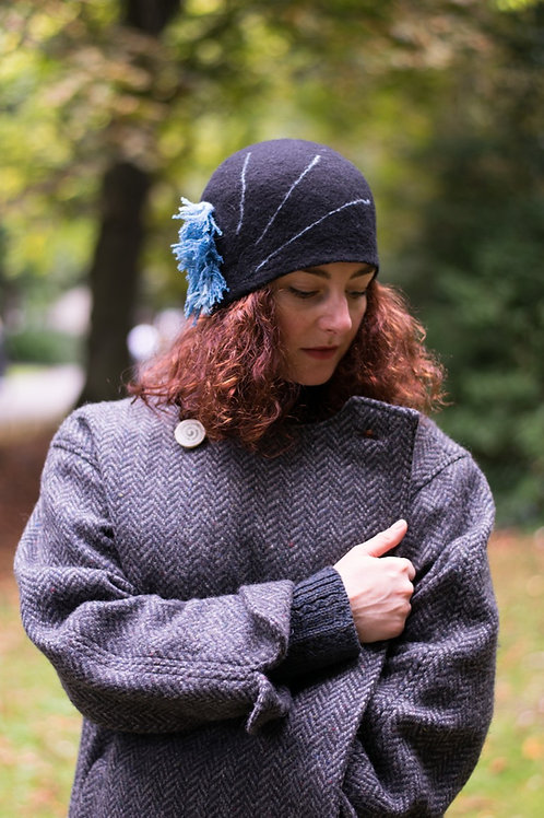 Cleo Tweed Two-Way Fastening Coat