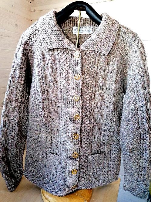 Aran hand knit sweaters -Peggy cardigan
