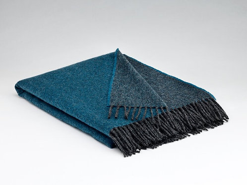 McNutt of Donegal Pure Wool Reversible Blanket